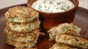 Картофельные оладьи с сыром и ветчиной