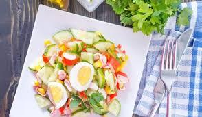 Яично-крабовый салат