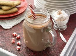 Горячий шоколад с мятой