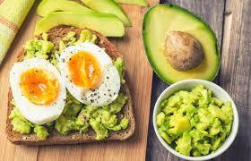 Двойной тост с авокадо и яйцом