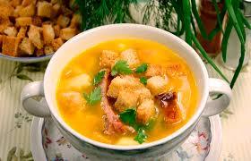Гороховый суп с копчеными свиными ребрышками