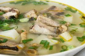 Рыбный суп из скумбрии с пшеном