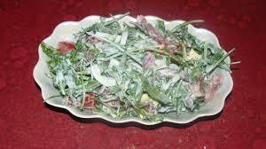 Сытный салат с рукколой