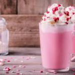 Розовый горячий шоколад