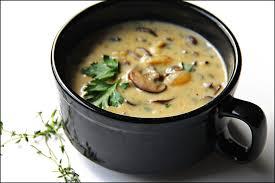 Грибной крем-суп с тимьяном и петрушкой