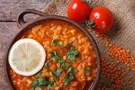 Суп из красной чечевицы с куркумой