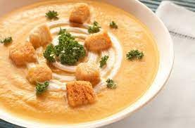 Легкий гороховый крем-суп с индийскими нотами