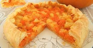 Пирог с картофелем и тыквой