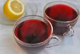 Напиток из каркаде, с имбирем и лимоном
