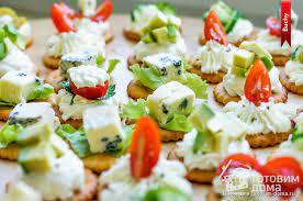 Крекеры с творожным сыром