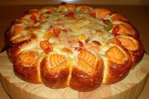 Пирог с перцем и сыром