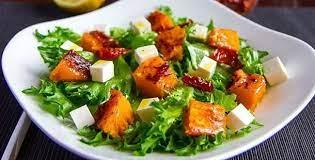 Салат из тофу с тыквой