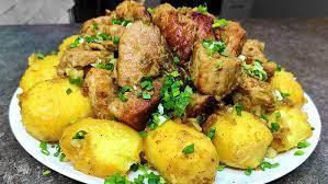 Картофель с мясом «Праздничный»